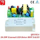 transformador externo aislado voltaje completo de 20-28W Hpf LED con el Ce TUV QS1182A