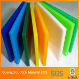 Colorear la tarjeta plástica de acrílico del acrílico del plexiglás de la hoja MMA