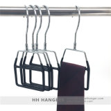 Perchas cubiertas plástico de la bufanda del lazo de la visualización del gancho de leva del eslabón giratorio del metal