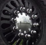 Cubierta inoxidable de la tuerca del terminal de acero con los bordes para las tuercas del terminal del carro