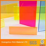 Colorear la hoja de acrílico del plexiglás de PMMA plástica