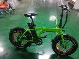 Vert avec Mudgards 20 pouces Bicyclette électrique à gros pneu