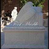 Marmeren HerdenkingsGedenkteken mem-002 van Carrara van het Graniet van de Steen Herdenkings Herdenkings Wit
