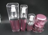 Hight Qualitätsquadrat-Acrylsahneglas und Lotion-Flasche (NST04)