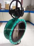 Doppeltes flanschte konzentrisches Drosselventil mit Getriebe bedienen