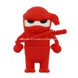 Mecanismo impulsor del flash del USB de la historieta del USB Pendrive Thumbdrive de Ninja del guerrero