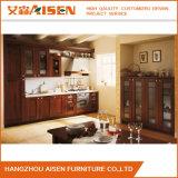 食器棚のシンプルな設計の純木の家具のキャビネット
