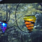 Luz colgante Solar-Accionada del Arte-Vidrio LED para el jardín del patio