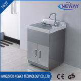 Einfacher Fußboden-stehender Stahlbadezimmer-Speicher-Schrank