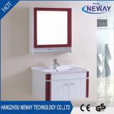 Fabrik-an der Wand befestigtes Badezimmer-Plastikeitelkeits-Schrank mit Spiegel