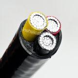 0.6/1kv 3 les faisceaux /PVC en aluminium ont isolé le câble d'alimentation