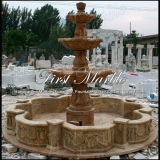 Fontana dorata Mf-1022 del calcio della fontana di pietra di marmo del granito