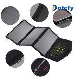 O USB dobro equipado do telefone dos painéis solares carregador portátil poderoso Foldable move o banco da potência externa para tabuletas dos dispositivos móveis