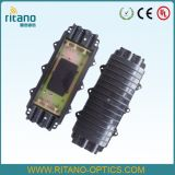 Fechamento plástico da junção da fibra óptica da abóbada