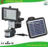 Luz solar del sensor de movimiento de PIR con la pantalla visual