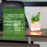 実質無線小型Bluetoothのスピーカー新しいデザインスマートな接触はプラント音楽植木鉢を育てる