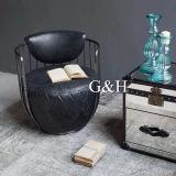 상한 거실 의자, 호텔 의자, 진짜 가죽 의자