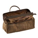Forma ocasional saco de viagem encerado do lazer do Duffle da lona