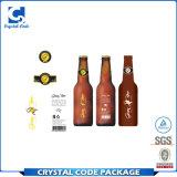 Escritura de la etiqueta adhesiva impermeable privada de encargo de la etiqueta engomada de la botella de vino