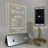 3D LED iPhone7를 위한 가벼운 램프 대중음식점 메뉴 힘 은행 충전기