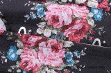نساء غلّة كرم خاصّ بالأزهار دنيم وسط مدرّب [أفربوست] مشدّ أعلى [بوستير]