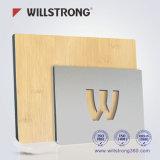 Cartelera que hace publicidad del panel compuesto de aluminio