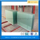 El ácido grabó al agua fuerte precio del vidrio Tempered del surtidor de China