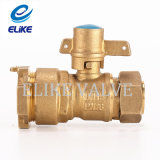 3/4 pulgada Brass Lockable Ball Valve con Nickel Coating