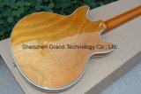 Guitare du corps 335 de cavité de matériel d'or d'éclat de Tobocco