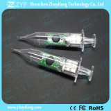 Azionamento trasparente di plastica dell'istantaneo del USB della siringa con il marchio (ZYF1815)