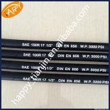 Tuyau hydraulique tressé SAE100 R17 de fil d'acier