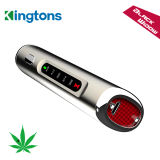 Kingtons Powerful e Durable 3 em 1 Black Widow Dry Herb Vape Pen, Vaporizer Smoking Device com Ceramic Heating Element