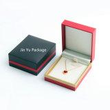 Rectángulo de empaquetado del rectángulo del collar del regalo plástico hecho a mano de la joyería