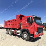 LHD 336HP HOWO A7 팁 주는 사람 40 톤 6X4 쓰레기꾼 트럭