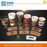 Manicotto stampato marchio su ordinazione della tazza di caffè della carta kraft