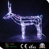 Licht der Weihnachtsdekoratives Rotwild-3D