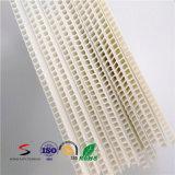 Strato di plastica ondulato bianco di colore pp