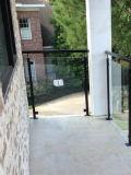 스테인리스 Baluster와 강화 유리를 가진 상점 실내 방책 & 층계 부속