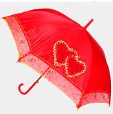 Auto diritto Open Wedding Umbrella con Lace Board