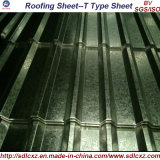 Materiales de construcción DX51D corrugado de cubierta de planchas de acero galvanizado (0.12mm-0.8mm)