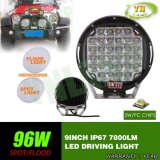 9inch 96W 자동차 부속 크리 사람 LED 일 램프 Offroad 모는 빛
