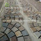 Brown-Schiefer ineinandergegriffener Pflasterung-Stein für Fahrstraße und Garten
