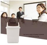 Blanco envase del bote de basura de la cubierta de 10 litros mini