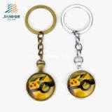 Il commercio all'ingrosso Pokemon della fabbrica di alta qualità va moneta su ordinazione Keychain del metallo