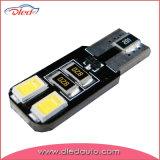 Auto bulbo do diodo emissor de luz, luz da cunha T10, 4SMD57300 (194, W5W)