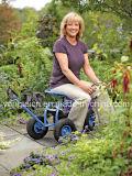 둥근 바구니를 가진 정원 트랙터 Scoot