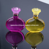 Sale caliente Glass Perfume Bottle con Flower Shape Cap