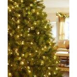 7.5 pi de Pré-Lit de sapin de Douglas verte ont vers le bas balayé l'arbre de Noël artificiel avec les lumières claires (MY100.084.00)