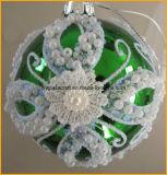 يد دهن صنع وفقا لطلب الزّبون عيد ميلاد المسيح زجاج زخارف