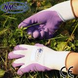 Перчатки работы латекса пены Nmsafety супер мягкие садовничая
